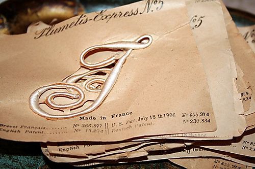 Vintage French Embroidered Monogram 002