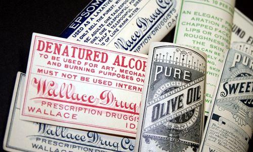 Pharmacy Labels Vintage 002